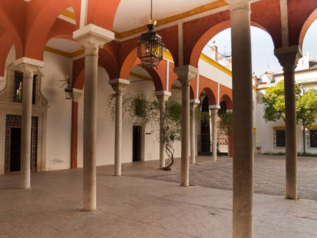 Galleries of Casa de Pilatos  built in 1519 , Seville, Andalusia, Spain Stock Photo - 15987120