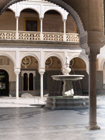 Patio of Casa de Pilatos  built in 1519 , Seville, Andalusia, Spain Stock Photo - 15987114