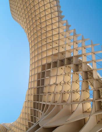 eggtray: SEVILLE,SPAIN - JUNE 2012  Metropol Parasol in Plaza de la Encarnacion on June 2012 in Seville,Spain  J  Mayer H  architects, it is made from bonded timber with a polyurethane coating