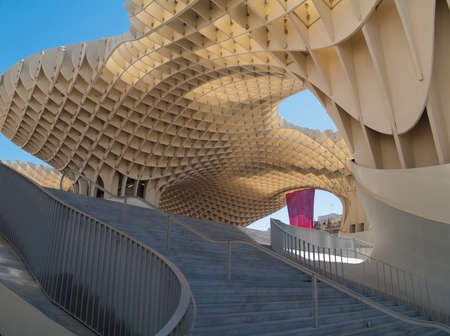 SEVILLE,SPAIN - JUNE 2012  Metropol Parasol in Plaza de la Encarnacion on June 2012 in Sevilla,Spain  J  Mayer H  architects, it is made from bonded timber with a polyurethane coating  Stock Photo - 15987117