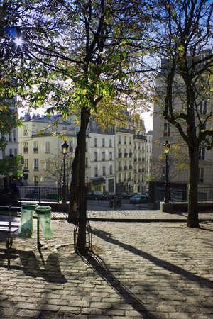 Morgen im Park Monmartre, Paris, Frankreich