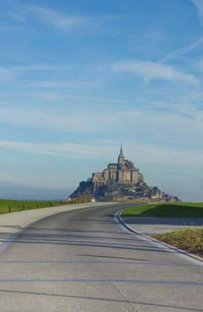 Road to Mont Saint Michel, France photo