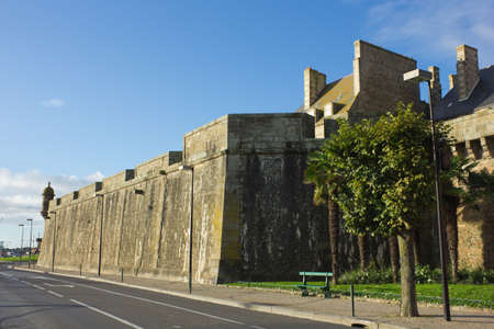 castle walls of Saint Malo old town Stock Photo - 16919122