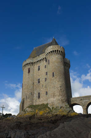 Solidor tower, la tour Solidor, Saint Malo, France Editorial