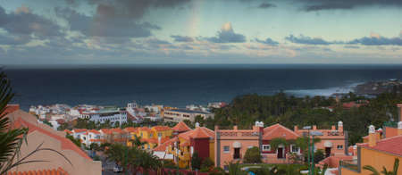 Panoramic view of Puerto de la Cruz resort, Tenerife, Spain photo