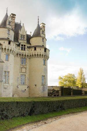 Chateau d'Usse (erbaut XV - XVI Jahrhundert) aus in Indre-et-Loire, Frankreich. Editorial