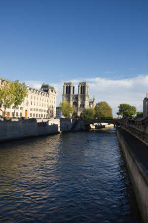 Paris, Notre Dame as seen from Seine, France Stock Photo - 17840795