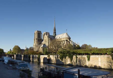 Paris, Notre Dame as seen from Seine, France Stock Photo - 17840799