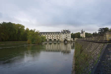 CHENONCEAU, FRANCE - November 2012: Castle on November, 2012 in Chenonceau, France. It was built in 1513 by Katherine Briconnet, famous chateau of french queens.