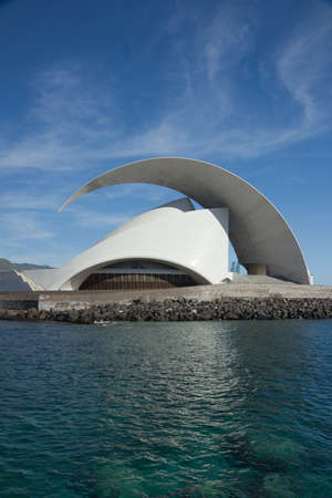 TENERIFE, SPAIN - JANUARY 16: Auditorio de Tenerife on January 16, 2013 in Tenerife, Spain. It is designed by architect Santiago Calatrava Valls and has become an architectural symbol of city Santa Cruz de Tenerife.