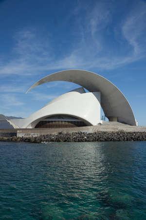 TENERIFE, SPAIN - JANUARY 16: Auditorio de Tenerife on January 16, 2013 in Tenerife, Spain. It is designed by architect Santiago Calatrava Valls and has become an architectural symbol of city Santa Cruz de Tenerife.