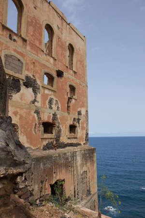 deserted hotel on the Tenerife coast, Spain