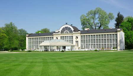 lazienki: Panorame of old orangery in Lazienki park, Warsaw, Poland