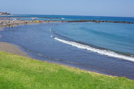 panoramic of Las Americas beach, south Tenerife, Spain photo