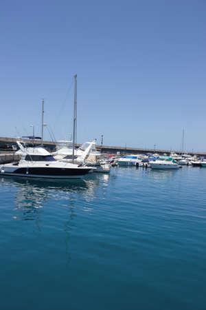 Luxusyachten am Seehafen, Spanien Lizenzfreie Bilder