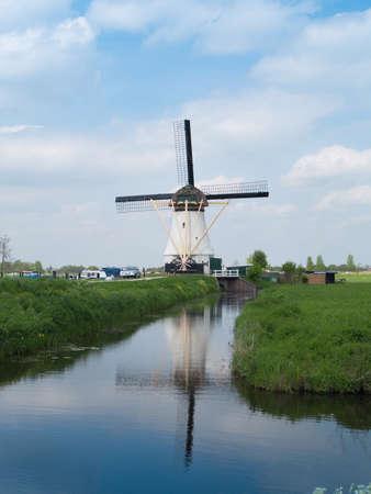 holland rural windmills, molens van kinderdijk Stock Photo - 20898616