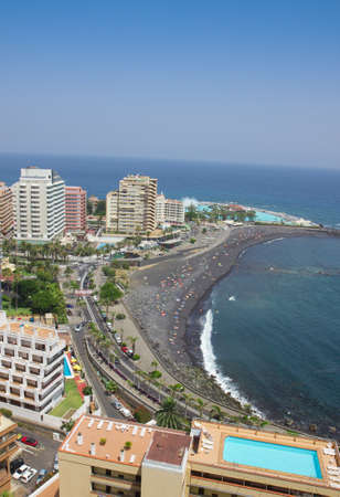 Beaches and hotels of Puerto de la Cruz, Tenerife, Spain photo