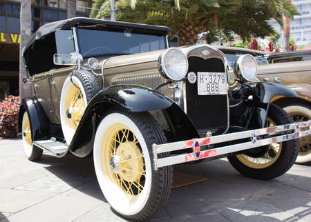 PUERTO DE LA CRUZ - JULY 14: Ford Model A at town boulevard, on July 14, 2013 in Puerto de la Cruz. Ford Model A (1928-1931) was huge success for the Ford Motor Company.  Editorial