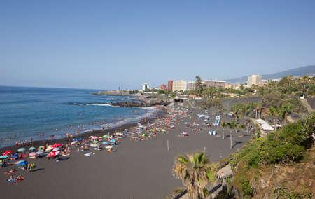 PUERTO DE LA CRUZ - JULY 15: San Telmo beach on July 14, 2013 in Puerto de la Cruz, Spain. San Telmo is best known beach on Tenerife. Editorial