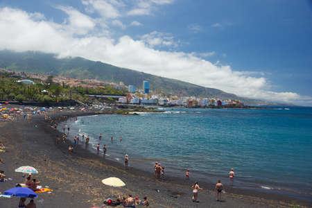 Famous San Telmo beach in Puerto de la Cruz, Spain in summer Stock Photo