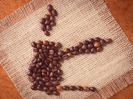 cezve: Image of cezve made with coffee beans