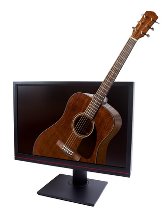 frets: LCD with guitar on a white background