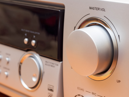 master volume: View on the front panel of equalizer with some controls