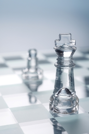 stock images of transparent glass chess  photo