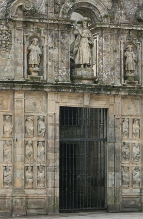 Puerta Santa of the Cathedral in Santiago de Compostela, Spain photo
