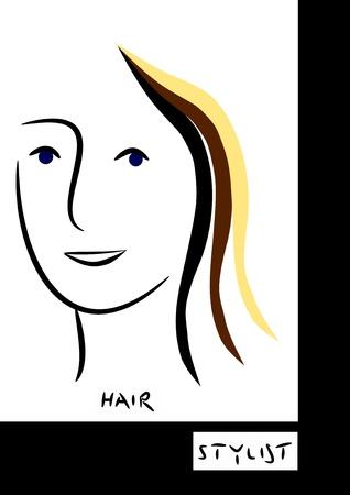 hair logo Stock Photo