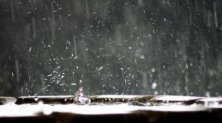 gotas de agua: lluvia