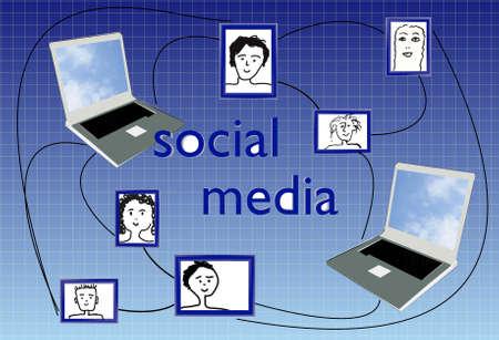 insider information: social media Stock Photo