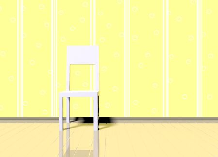 conveniently: room with chair Stock Photo