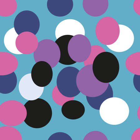 Colorful vector abstraction. Bright abstract background with different shapes Illustration