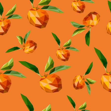 A seamless lemon and orange pattern on white background.