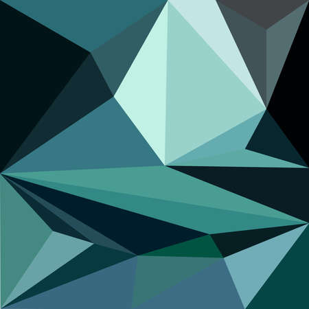 Seamless geometric mint tribal triangle background pattern in vector
