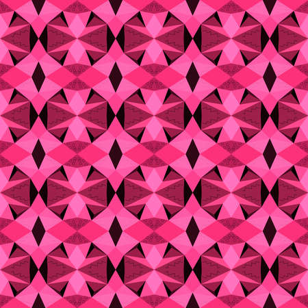 Seamless pattern with decorative geometric and abstract elements. Vector illustration. Illustration