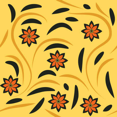 vector art Khokhloma, Hohloma or Khokhloma painting is the name of a Russian wood painting handicraft style and national ornament, known for its curved and vivid mostly flower, berry and leaf patterns