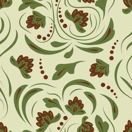 Folk flowers pattern Floral surface design pattern Illustration