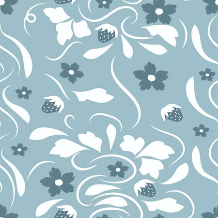 Floral pattern with flowers and leaves Fantasy flowers Abstract Floral geometric fantasy Illustration