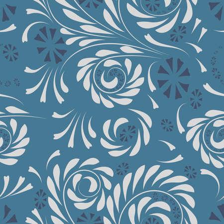 Folk flowers pattern Floral surface design Seamless pattern