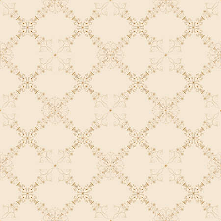 digital scrapbooking: Elegant vector seamless background with baroque floral pattern in golden and red. Unique Victorian style background seamless pattern for website, digital scrapbooking, wallpapers, textile, upholstery and wrapping paper.