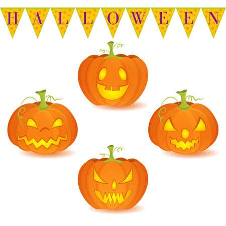 Patrón De Halloween Sin Fisuras Con Las Calabazas, Jack O\'Lanterns ...