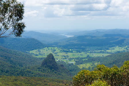 lamington: Beautiful wet tropical rainforest aerial view. Hiking in rainforest. Adventure rainforest, Lamington National Park, Queensland, Australia
