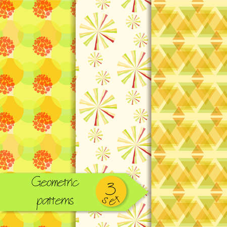 versatile: Abstract geometric seamless patterns set. Beautiful geometric patterns. Set of unique seamless geometric patterns. Versatile seamless background Illustration