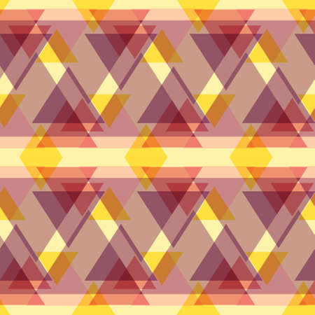 variegated: Abstract geometric seamless pattern with colorful triangles. Seamless modern geometric background. Unique and modern seamless abstract background with geometric figures Illustration