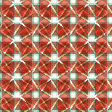 structured: Abstract geometric seamless pattern with red and blue geometric figures. Modern geometric background. Unique and modern seamless abstract wallpaper with triangles