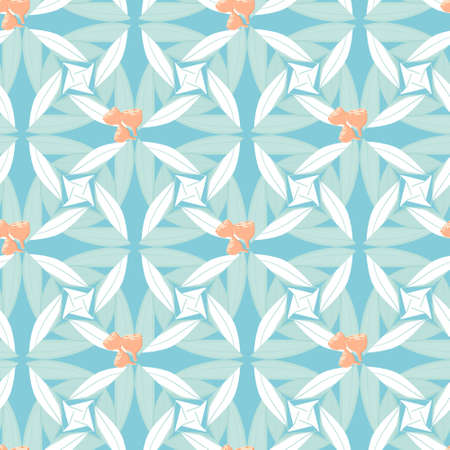 hues: Abstract floral seamless background of stylized eucalyptus leaves and seeds in pastel hues. Australian native plant endless pattern. Great for textile prints and scrapbooking designs