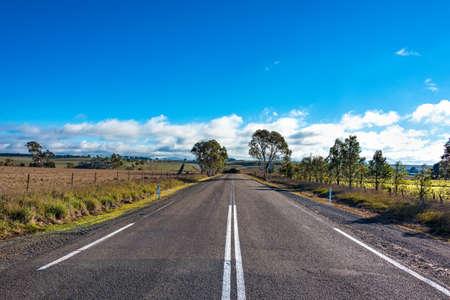 australian outback: Australian outback road. Rural road on sunny day. Myrtleville, NSW, Australia