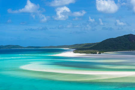 whitehaven beach: Aerial view of Hill inlet and Whitehaven beach Stock Photo